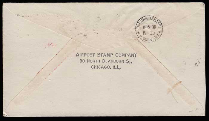 U.S.A. #C14 2 Jn 1930 Graf Zeppelin Flight Cover