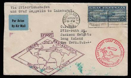 U.S.A. #C15 1930 Graf Zeppelin Flight Cover