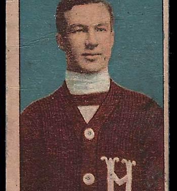 1910/11 Art Ross C56 #8 Rookie Hockey Card corner rd