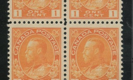 Canada #105LW VFNH 1922 1c Type C Lathework bottom margin Block