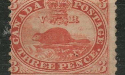 Canada #12 about Fine Unused appearing 1859 3d Red Perforated Pence
