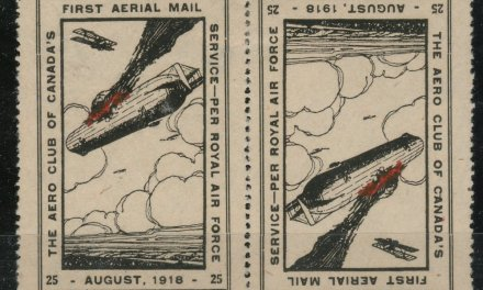 Canada #CLP2g 1918 25c Burning Zeppelin se-tenant Pair