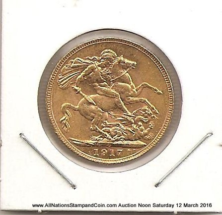 Canada Unc 1917C Gold Sovereign