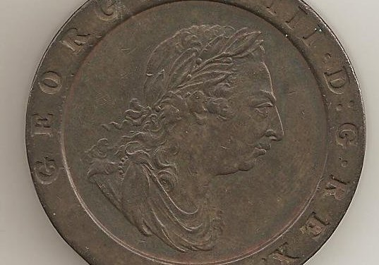 Great Britain Unc 1797 George III Cartwheel Two Pence