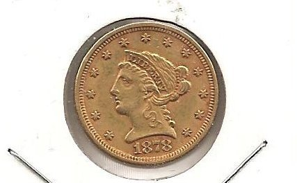 U.S.A. XF 1878 $2.50 Liberty Gold Quarter Eagle