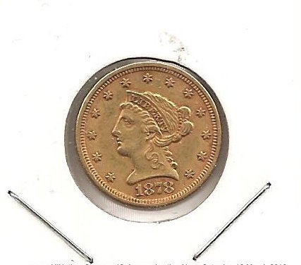 U.S.A. XF 1878 $2.50 Liberty Gold Quarter Eagle