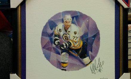 Ray Bourque Framed Autographed #839/1077 Lithograph