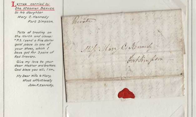 A1000 lot 43 oldest letter1854 H.B.C. Alaska/Ft Simpson 3-page FLS ex Wellburn