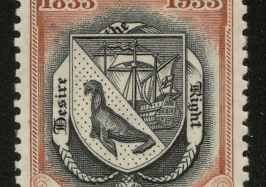 Falkland Islands #75 1933 10/- Centenary