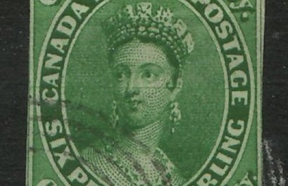 Canada #9 1857 7.5d Imperforate