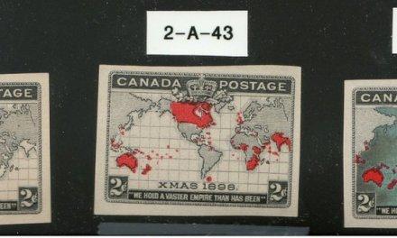 Canada #85-86 1898 2c Map Progressive Plate Proof Trio