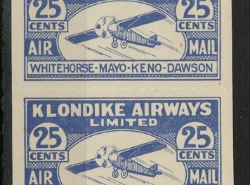 Klondike Airways #CL45\1928 25c Strip