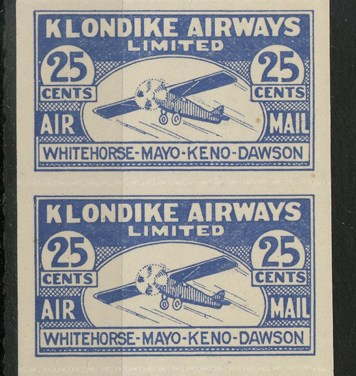 Klondike Airways #CL45\1928 25c Strip
