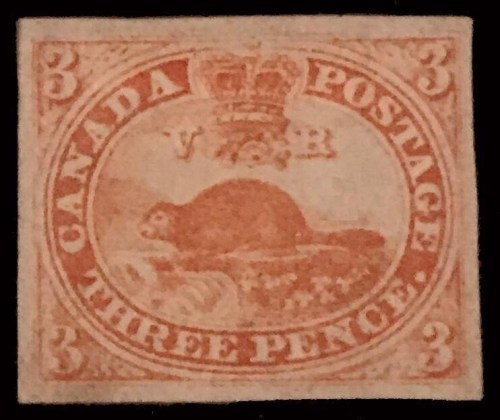 Canada's first stamp