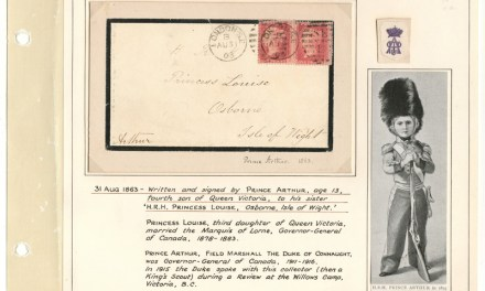 Prince Arthursigned 1863 Mourning Cover toPrincess Louise