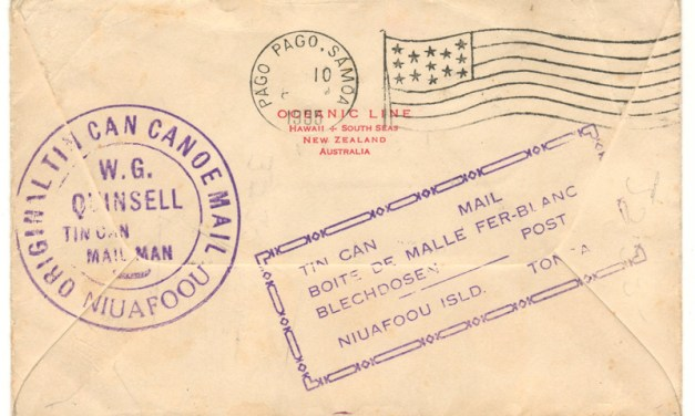 Tonga 1935 2.5d Tin Can Canoe Mail Cover to San Diego