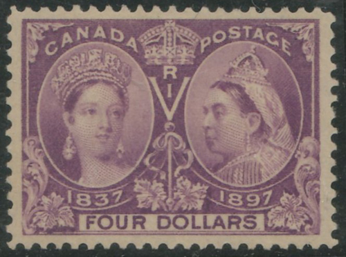 Lot 28 Canada #64 VF Mint HR 1897 $4 Jubilee