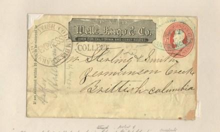 Wells Fargo 1871 Barnard's Express Cover to Germansen Creek