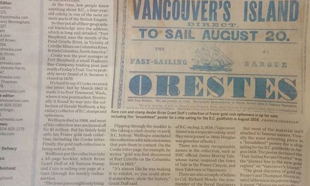 All Nations is auctioning the never before offered Gerald E. Wellburn Fraser River Gold Rush collection
