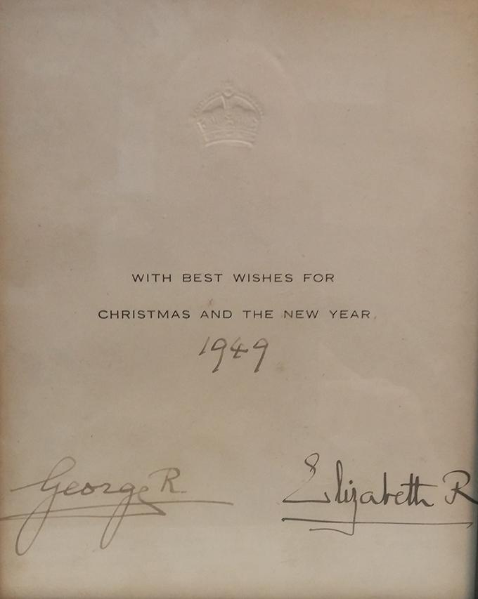 George VI & Queen Mum signatures