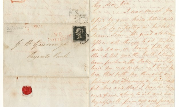 Great Britain #1 22 Dec 1840 1d Black 3-page F.L.S
