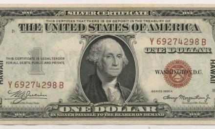 U.S.A. Hawaii Unc 1935A Emergency Printing $1 Silver Certificate