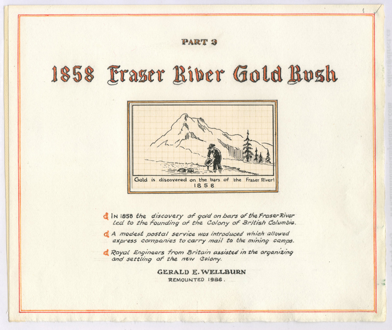 Pages from the 1858 Fraser River Gold Rush collection by Gerald