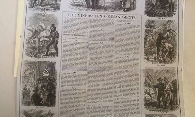 California Gold Rush 1853 Miners 10 Commandments from Gerald Wellburn collection