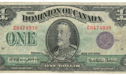 Dominion of Canada #DC-25l 1923 George V Horseblanket $1