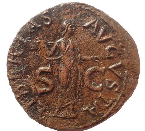 Claudius AE As reverse: Libertas