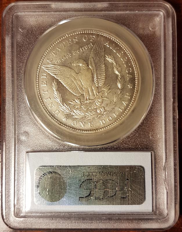 1893O Morgan Silver Dollar PCGS AU50