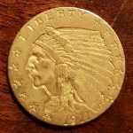 U.S.A. 1911 Indian Head Gold $2.50