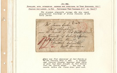 Page 7 1862 London 2.5d Cover to Fort Shepherd,  Gerald Wellburn Fraser River Gold Rush Collection