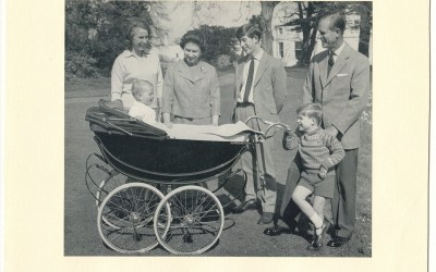 Queen Elizabeth II & Philip Signed 1965 Christmas Card
