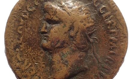 Nero AE Dupondius struck at Rome Mint