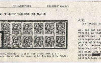 Canada #140a 1926 Double Surcharge Variety