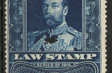 1915 George V 50c Supreme Court Law stamp