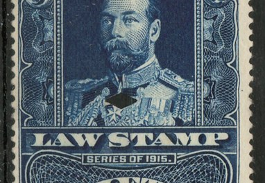 1915 George V 50c Supreme Court Law stamp