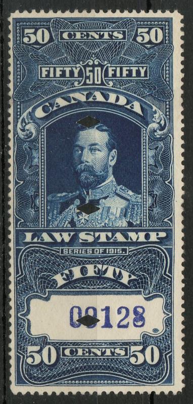 1915 George V 50c Supreme Court Law engraved stamp