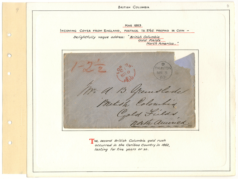 Cover addressed to Gold Fields  on Wellburn page 8