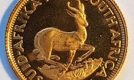 South Africa Proof 1968 Gold 2 Rand .2350 oz AGW
