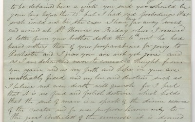 Marcus Smith 1856 letter to wife