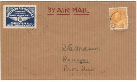 Canada #CL5 31 Aug 1925 Haileybury/Rouyn Cover