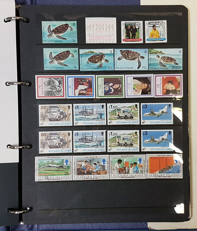 Another Page of PItcairn Island stamps from the album