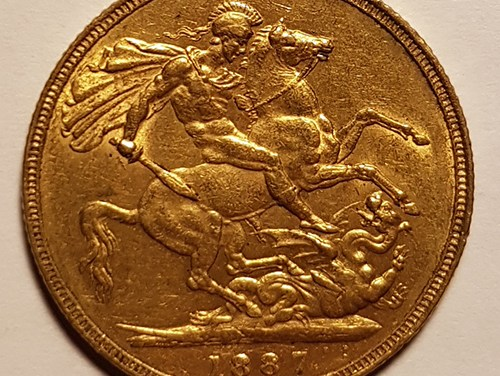 Great Britain 1887 Jubilee Head Victoria Gold Sovereign