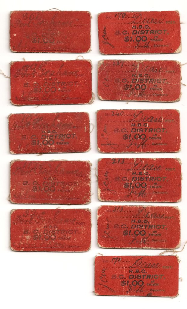 8 cards of red $1 Fort Grahame