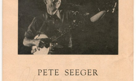 Pete Seeger twice Signed 22 Nov 1964 Montreal Concert Programme