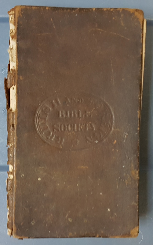 Outside Binding 'Bible Society' embossed