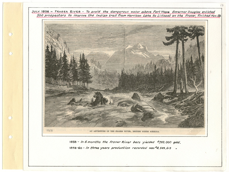 Page 17 with illustration of fraser river