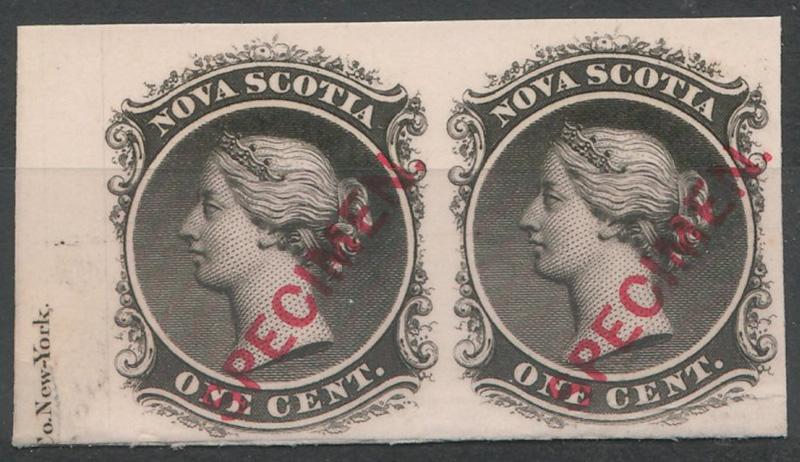 Pair 1c, stamped 'specimen'